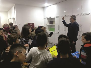 "With the fourth grade pupils from the primary school ""Kole Nedelkovski, Skopje (25.10.2018)"