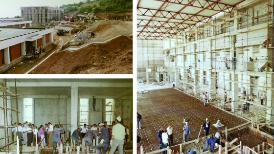 Photo taken during the construction of the new campus of IZIIS – late 70-ties of the last century