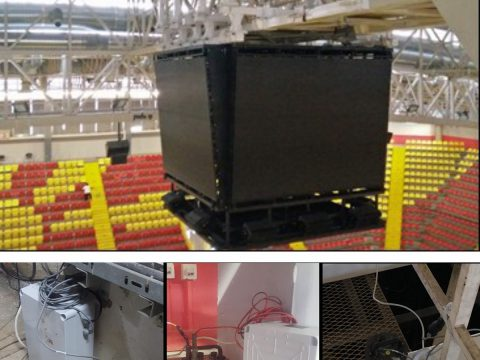 """Project: Testing of seismic stability of the roof structure of the VIP arena within the sports centre """"Boris Trajkovski"""" in Skopje."""