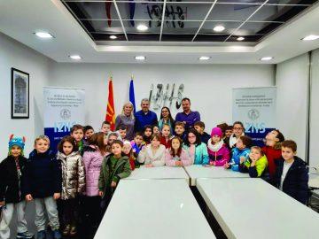 "With the second grade pupils of the primary school ""Vlado Tasevski"", Skopje (19.12.2019)"