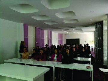 """With the students of the first and the second year of study at secondary school """"Saraj"""", Skopje (11.04.2019)"""