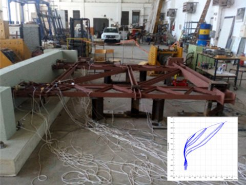 Project: Quazi-static testing of the connection between platform steel structure with reinforced concrete core of the Antenna System for Control and Monitoring of Radiofrequencies in the Territory of R. Macedonia, 2017 (Инвеститор: AEK Агенција за електронски комуникации, Скопје)