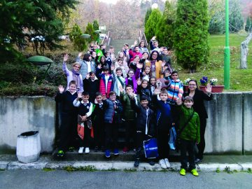 "With the fourth grade pupils from the primary school ""Gjorgjija Puleski"", Skopje (12.11.2018)."