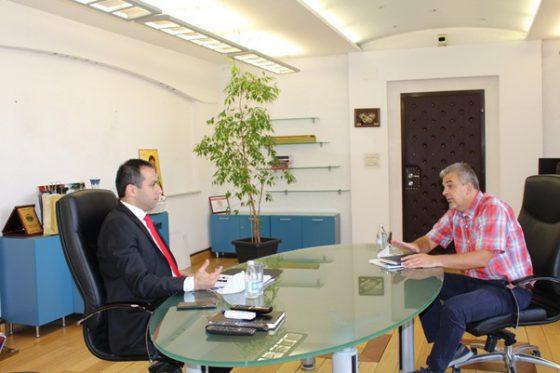 Работен состанок со Министерот за Транспорт и врски, г-дин Благоја Бочварски