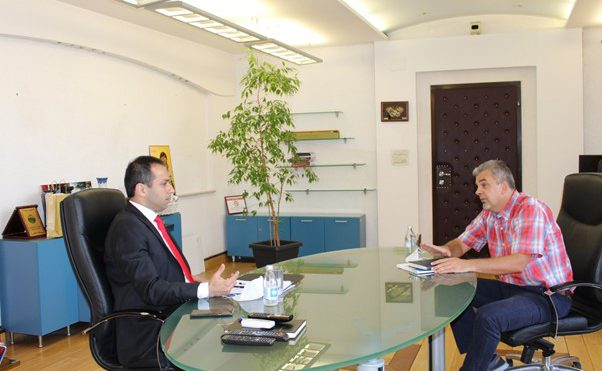 Working meeting with the Minister of transport and communications, Mr. Blagoja Bochvarski
