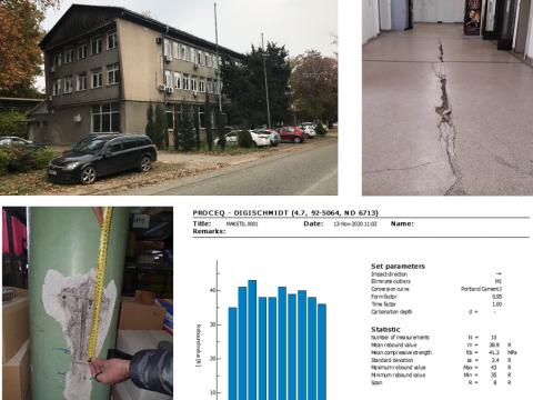Project: analysis of stability and security of MAKSTIL Office Building, 2020, (MAKSTIL DOO Skopje)
